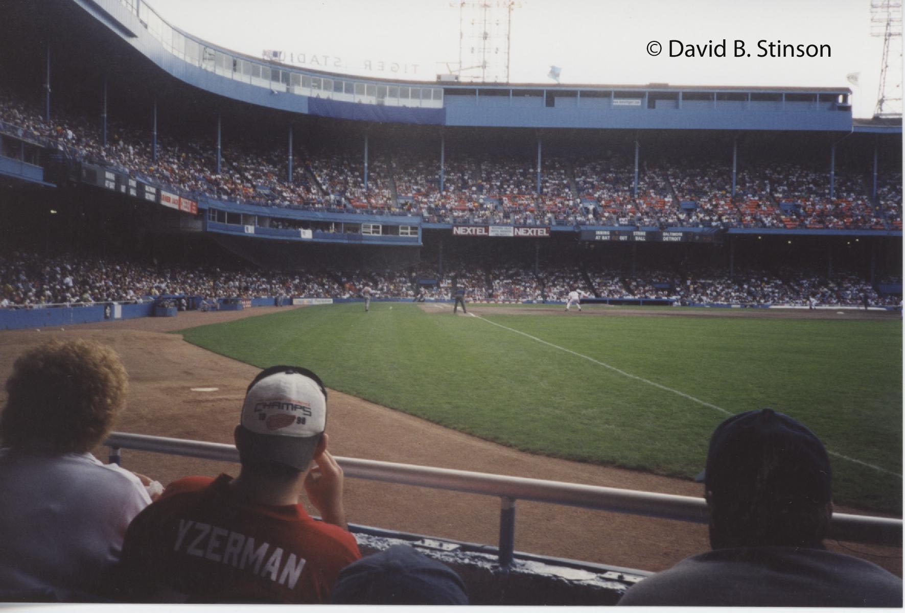 Tiger Stadium 1999 David B Stinson Author