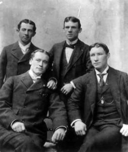 Willie Keeler, John McGraw, Joe Kelley, and Hughie Jennings