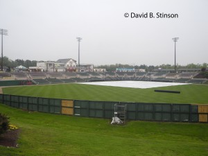 Tarp Covered Infield In Kinnapolis, North Carolina