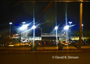 Stadium Lights Illuminate BB&T Ballpark in Winston-Salem, North Carolina