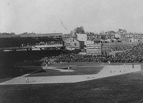 Union Park Grandstand (detail from The Winning Team, Library of Congress Prints and Photographs Division)