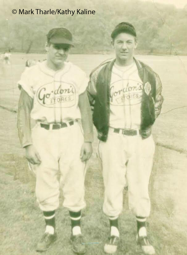 Cousins George and Al Kaline (original photograph and image owned by Mark Tharle and Kathy Kaline - used by permission)