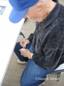 Joe Sinnott Working On Autographed Ball Featuring The Thing