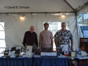 Baltimore Book Festival Table Mates  Raleigh Mann, David Stinson, and Seth Adam Kallick