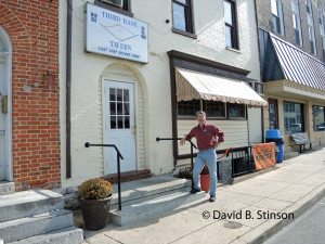 Author Austin Gisriel In Front of Third Base Tavern, One of Boots Poffenberger's Favorite Haunts