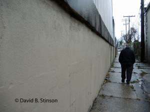 Richard O'Keefe Walks the Eastern Perimeter of  Peabody Heights Brewery, Next to Old Oriole Park Concrete Support Wall