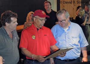 Lt. Governor Boyd Rutherford Presents Governor's Citation to J. Albert Hollis, III, and Richard O'Keefe