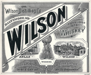 Wilson Brewery Whiskey Label