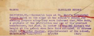 Newspaper Enterprise Association Photo Description of August 17, 1948 St. Mary's Industrial School Photo