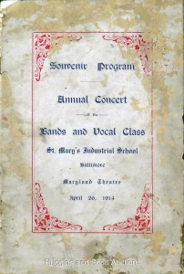 St. Mary's Industrial School Souvenir Program, Annual Concert, April 24, 1914 Image Huggins and Scott Auctions)