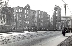 St. Mary's Industrial School in 1919, After the Fire (Photo by Hildegarde Anderson of 3236 Ravenswood Avenue, Baltimore Sun Reprint of Hildegarde photo, 1962).