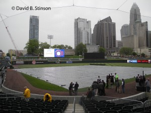 Former Members of the Charlotte Orioles Gather in Rain For Pregame Ceremony
