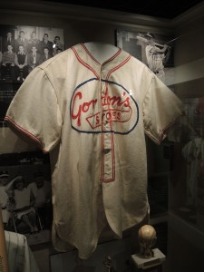 Al Kaline's Gordon's Store Jersey on Display at the Sports Legends Museum