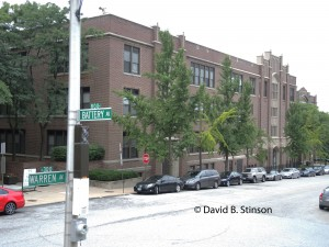 Former Southern High School Building at Intersection of Warren and Battery