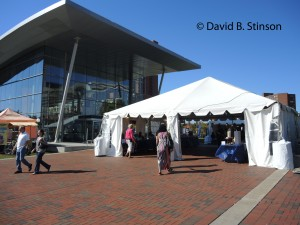 Authors Tent at Bicentennial Plaza, Baltimore Book Festival