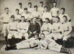 Baltimore Orioles, 1897, John McGraw at bottom left (laying down) and Wilbert Robertson second row, third from right