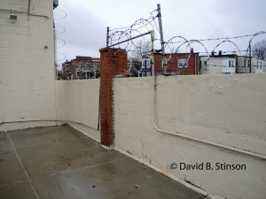 Old Oriole Park Left Field Fence, Peabody Heights Brewery, Baltimore, Maryland