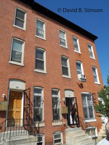 Former Boarding House at 12 West 24th Street , Baltimore, Maryland, Where John McGraw and Hughie Jennings Once Roomed