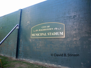 Municipal Stadium, Left/Center Field Wall Facing South Cannon Avenue, Hagerstown, Maryland