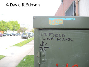 Left Field Foul Line marker, old Oriole Park, Baltimore, Maryland
